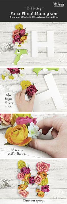 DIYFriday DIY Faux Floral Monogram