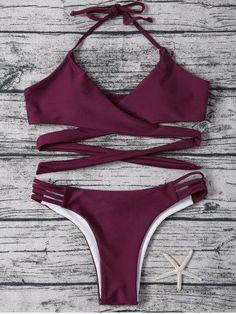GET $50 NOW | Join RoseGal: Get YOUR $50 NOW!http://m.rosegal.com/bikinis/wrap-strappy-halter-bikini-set-1048797.html?seid=v0jnr4p7o8frkfsln1b2a69l10rg1048797