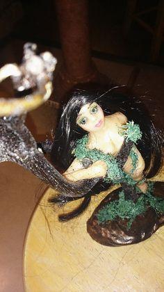 OOAK Handmade kleine Waldelfe, Figur, Fairy, Elfe, von Figurenmagie auf DaWanda.com
