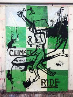 Hermann Josef Hack, CLIMATE RIDE, 160126, painting on tarpaulin, 313 x 231 cm, 2016