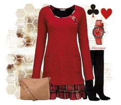 """Sweater Dress 1"" by gemique ❤ liked on Polyvore featuring moda, Anouki, Alison Lou, Steinhausen e Prada"