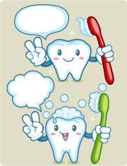 Tooth Cartoon vector art illustration