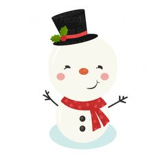 Adorable snowman SVG cut file #svgfile