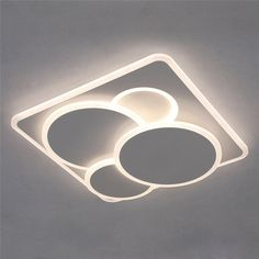 This round led flush mount comes with iron fixture and acrylic lampshade, it's modern and suitable for living room, bedroom, study and office. Gypsum Ceiling Design, Interior Ceiling Design, House Ceiling Design, Ceiling Design Living Room, Bedroom False Ceiling Design, Ceiling Light Design, Chandelier In Living Room, Home Ceiling, Bedroom Pop Design