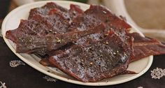 The Only Venison Jerky Recipe You'll Ever Need. While some cuisine-crazed folks would just as well add exotic ingredients, this homemade venison jerky recipe is Elk Recipes, Venison Recipes, Cooking Recipes, Game Recipes, Sausage Recipes, Smoker Jerky Recipes, Jerkey Recipes, Jerky Marinade, Homemade Jerky