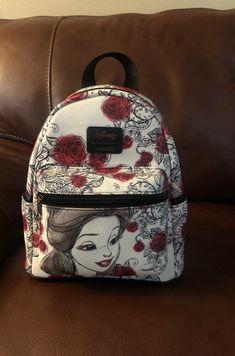 Loungefly Belle Beauty and the Beast Disney mini Backpack. Disney Handbags, Disney Purse, Purses And Handbags, Cute Mini Backpacks, Stylish Backpacks, Cute Disney Outfits, Mini Mochila, Disney Jewelry, Cute Purses