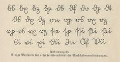 Sütterlin, Beispiele für Verbindungen (deutsche Kurrent) - Sütterlinschrift – Wikipedia Buchstabenverbindungen