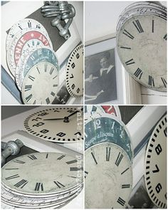 Clever uses for old CDs - clock faces | fleaChic: flea market savvy: Repurposing and Upcycling - so much fun