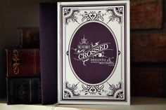 Antique Book Inspired Wedding Invitations2 500x333 Michael + Breannas Antique Book Wedding Invitations