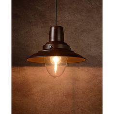 Bastia hanglamp - rustiek bruin