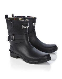 Barbour   Biker Style Buckle Wellington Boots   $95
