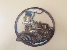 Old Train Metal Sculpture Metal Wall Art by Cre8iveMetalDesigns
