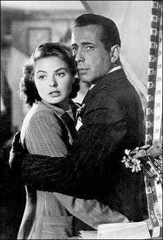 Ingrid Bergman and Humphrey Bogart in Casablanca Hollywood Actor, Golden Age Of Hollywood, Hollywood Stars, Classic Hollywood, Old Hollywood, Hollywood Couples, Humphrey Bogart, Casablanca Movie, Ingrid Bergman Casablanca