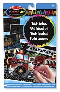 Zestaw do grawerowania Melissa & Doug - Vehicles