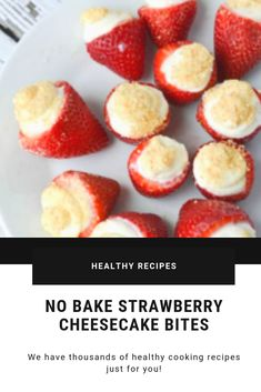 These no prepare strawberry cheesecake nibbles are overly simple to make! Pork Recipes, Easy Recipes, Vegan Recipes, Easy Meals, Cooking Recipes, Recipes Dinner, Drink Recipes, Snack Recipes, Winter Recipes