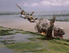 B-25 Mitchell by unknown artist