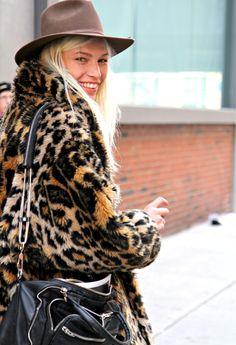 fur coat #offduty