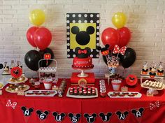 Mickey Mouse / Minnie Mouse Birthday Party Ideas   Photo 1 of 13