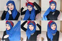 #hijabWearStyle#blue##hairband#red Tutorial de Hijab