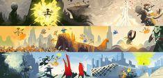 BBC #Beijing Olympics Color Script by Kevin Dart #illustration
