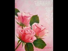 VER VIDEO > Como pintar en acrílico - Cuadro Rosas