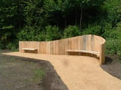 curved metal bench - Google Search