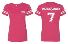 Persoanlized football shirts Bridal Party Bachelorette by tinygreenapples