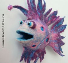 LumixArt - (lumix) -- Fish Severyuga $55 -- Done in a combined technique of wet and dry felting -- Handmade.