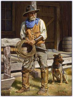 By Alfredo Rodriguez, Artist and Painter American Indian Art, Native American Art, American Artists, Art Indien, Westerns, West Art, Cowboy Art, Cowboy Pics, Le Far West