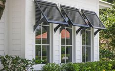 Exterior Shutters For Windows - Homes With Bahama Shutters . Bermuda Shutters, Bahama Shutters, Window Shutters Exterior, House Shutters, Outdoor Window Shutters, Homes With Shutters, Windows With Shutters, Metal Window Awnings, House Awnings