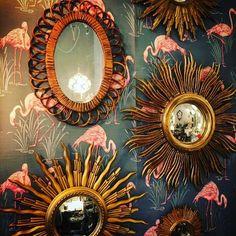 Vintage sunburst mirrors | Livingroom