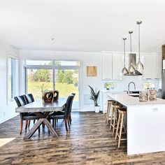 A Scandinavian cuisine - New Deko Sites Cabinets And Countertops, Hardwood Floors, Flooring, Updated Kitchen, Dining Table, Rustic, Decoration, Designer, Furniture