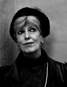 Danish author Suzanne Brøgger likes her head scarf