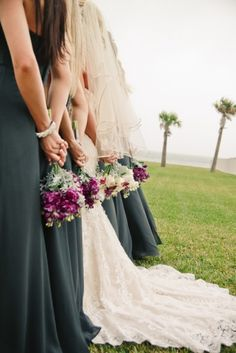 Love this perspective on the dresses and bouquets