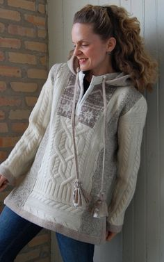Upcycled clothing Snowlight Hoodie Pullover by FoundryDesign, $328.00
