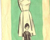 1960s Dress and Jacket Pattern Workbasket 4946 size 14 1/2 Bust 35.