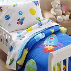 Found it at Wayfair - 3 Piece Olive Kids Out of This World Toddler Sheet Set