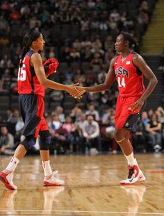 Candace Parker and Tina Charles, USA National Team