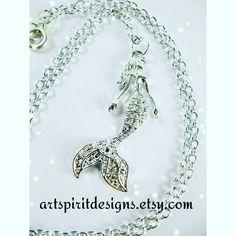 Mermaid necklace new in my shop. Check out my link in bio  #mermaid #mermaids #mermaidgirl #ilovemermaids #hippie #hippiefashion #hippiegirl #boho #bohofashion #handmade #jewelry #jewelrygram #necklace #wiccan #pagan #witch #water #nautical #beach #beachgirl #ocean #underthesea #okanagan #okanaganartist #kelowna #kelownaartist