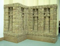 Part of the front of Inanna's temple from Uruk