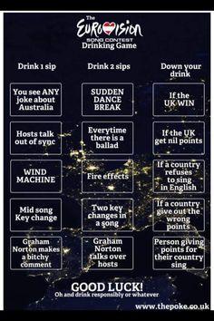 Eurovision drinking game