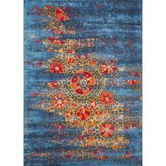 My Texas House by Orian Indoor/Outdoor Lady Bird Harbor Blue Area Rug & Reviews | Wayfair Purple Area Rugs, Navy Blue Area Rug, Beige Area Rugs, Blue Outdoor Rug, Indoor Outdoor Area Rugs, Area Rug Sets, Soft Flooring, Synthetic Rugs, Hallway Carpet Runners