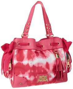 136f79ab4 Amazon: Juicy Couture Easy Everyday Nylon Daydreamer YHRU3350 Shoulder Bag,  HOT PINK, One
