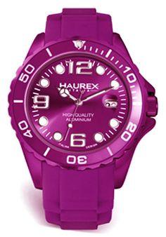 Price:$186.56 #watches Haurex 1K374DP3, Haurex Italy Ink Women's Purple Watch