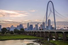 The Margaret Hunt Hill Bridge spans the Trinity River in Dallas, Texas. Margaret Hunt Hill Bridge Wall Art by Circle Capture from Great BIG Canvas. Trinity River, Wall Art Prints, Canvas Prints, Morning Sky, Panoramic Images, Canvas Frame, Big Canvas, Blue Art, Travel Posters
