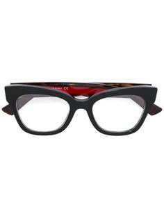 2f9ba72611845 Shop Gucci Eyewear cat eye square glasses. Gucci Glasses Frames, Gucci  Eyewear, Eyeglasses