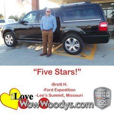 """""""Five Stars!""""  Brett"""