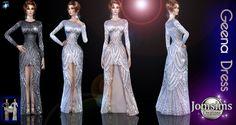 Long High Slit Dress The Sims 4 _ - Clove share Asia The Sims, Sims Cc, Sims 4 Dresses, Formal Dresses, High Slit Dress, Sims4 Clothes, Sims 4 Clothing, Sims 4 Update, Sims 4 Custom Content