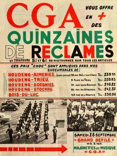 RIJNMONDBAND ----- 28 sep 1968  in Auvelais (Belgie) opening waren-huis CGA tesamen met majorettes GOLD STARS uit Bergen op Zoom.