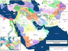 Cultural and Historical Zones Map of the Middle East